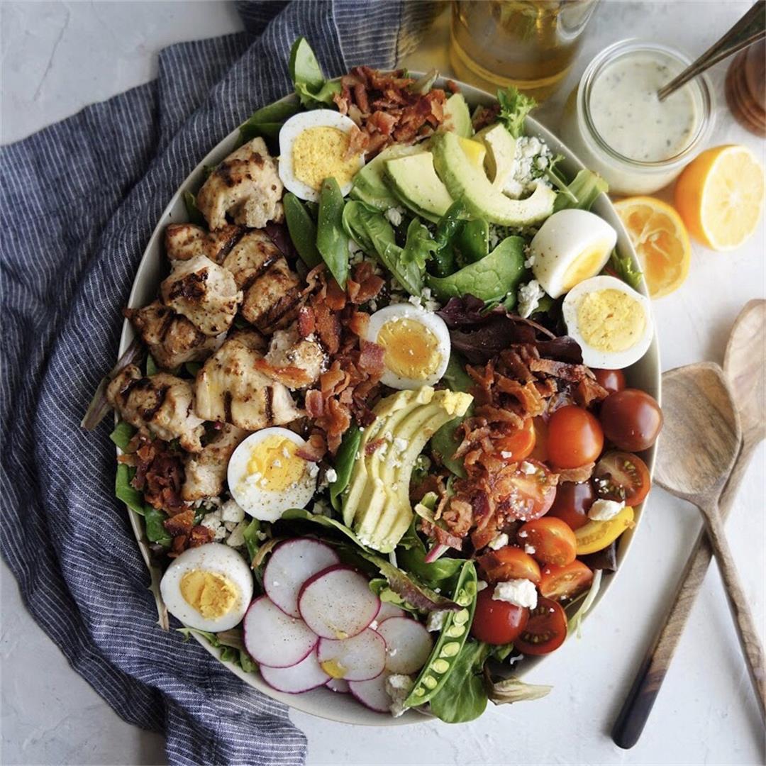 Cobb Salad with Avocado Vinaigrette