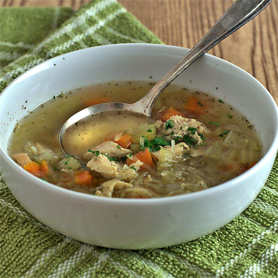 Instant Pot® Chicken No Noodle Soup