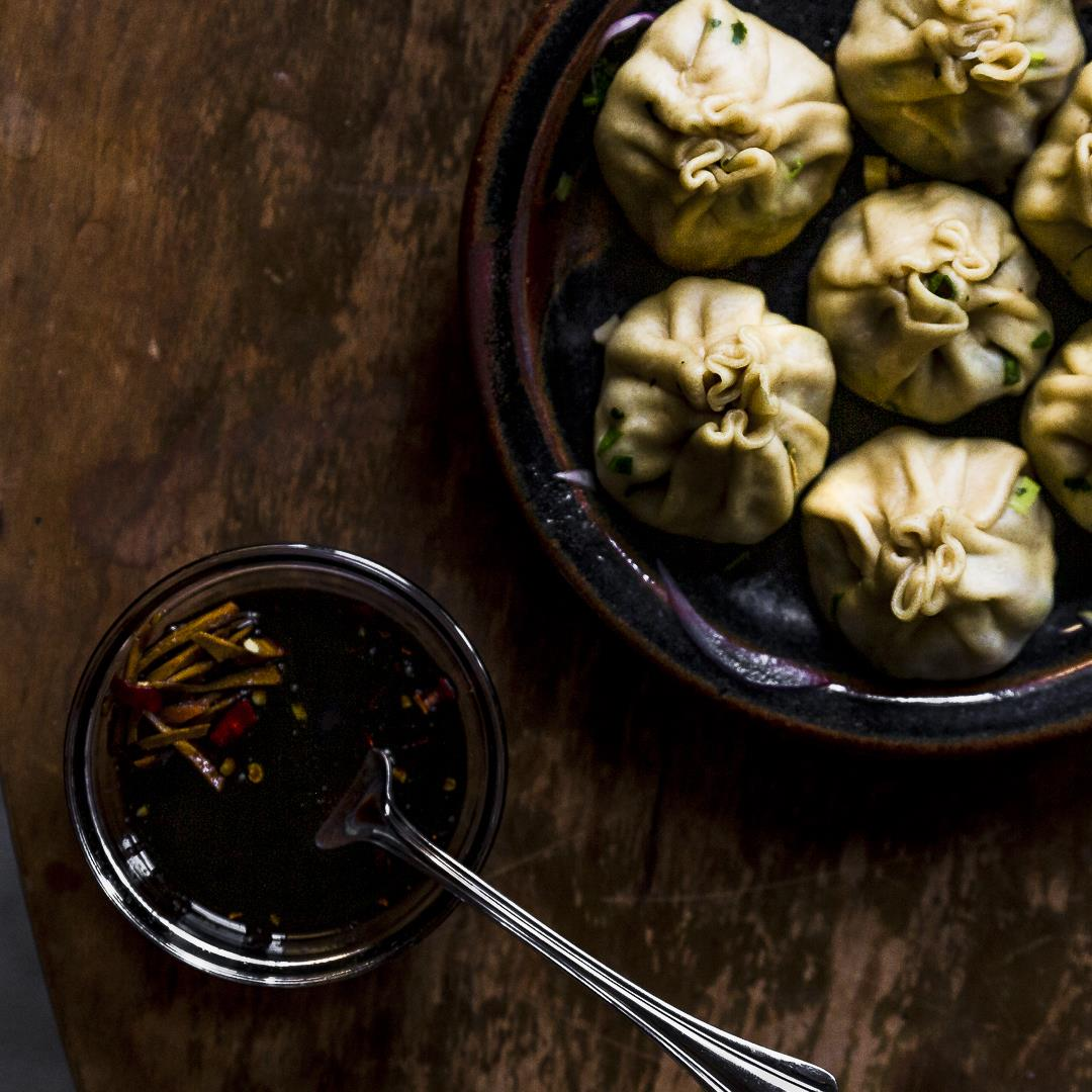 Lamb Dumplings with soy vinegar dipping sauce