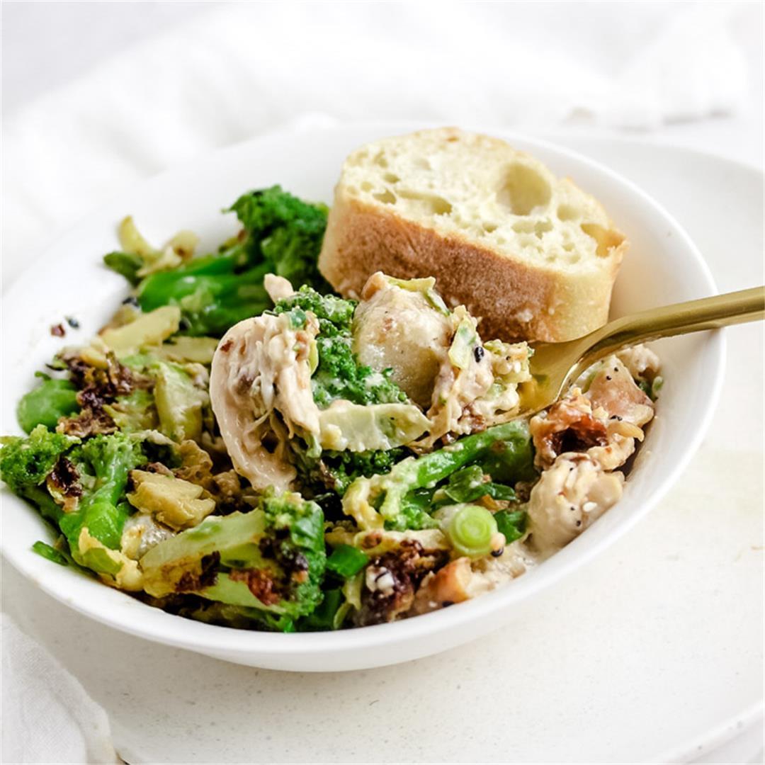 Parmesan Cauliflower Broccoli Gnocchi