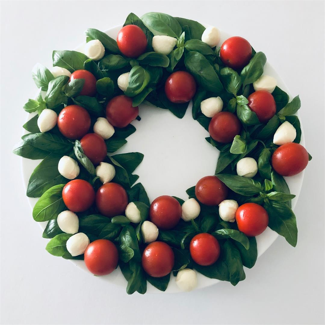 Caprese Christmas Wreath