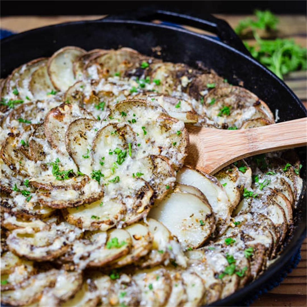 Asiago PDO Skillet Potatoes