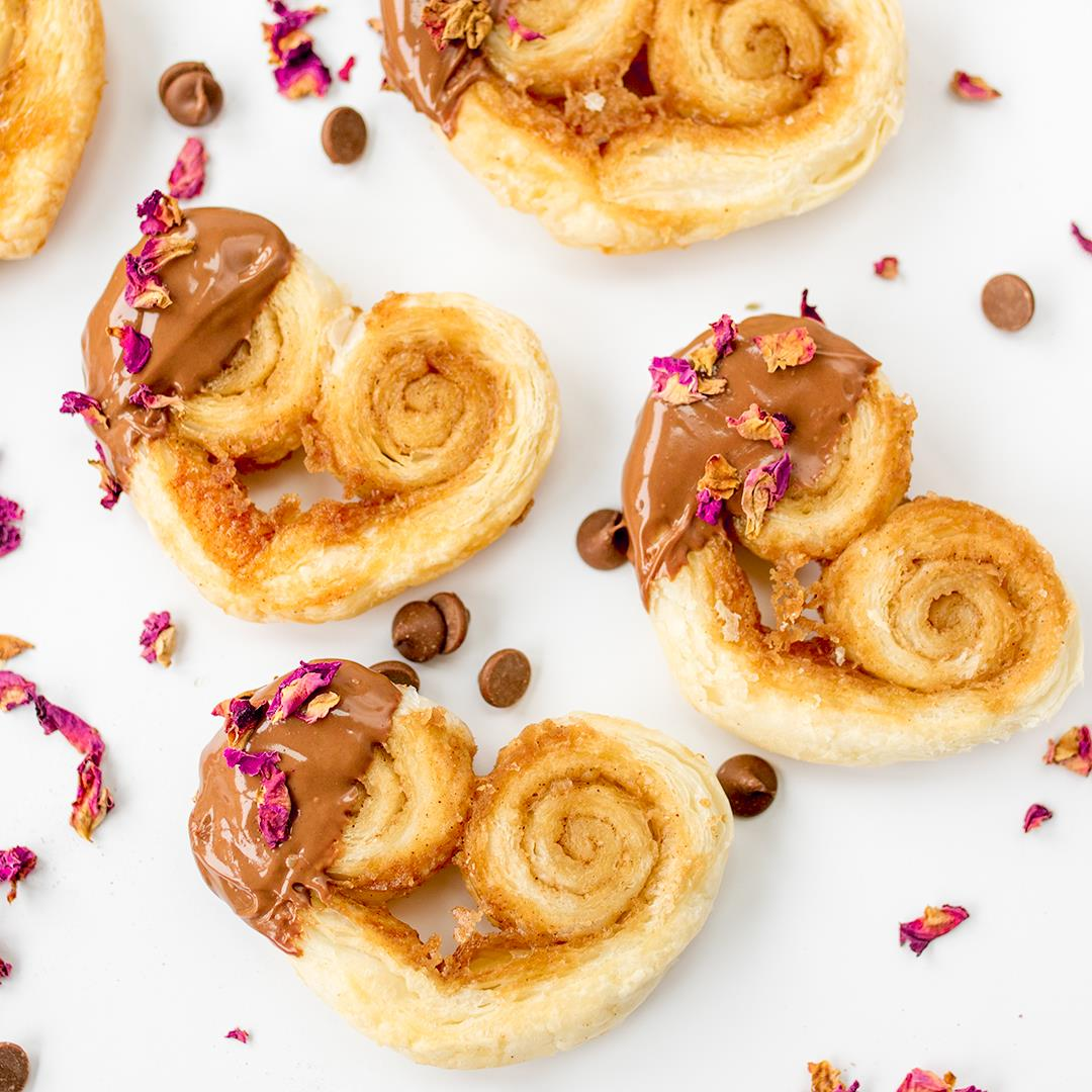 Rose and Chocolate Valentines Palmiers