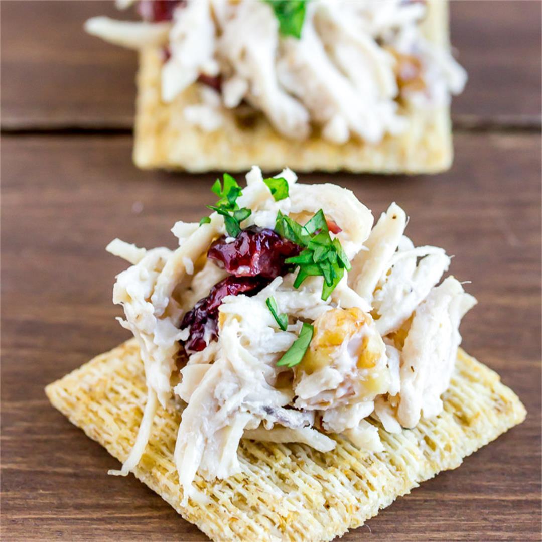 Cranberry Walnut Chicken Salad Bites