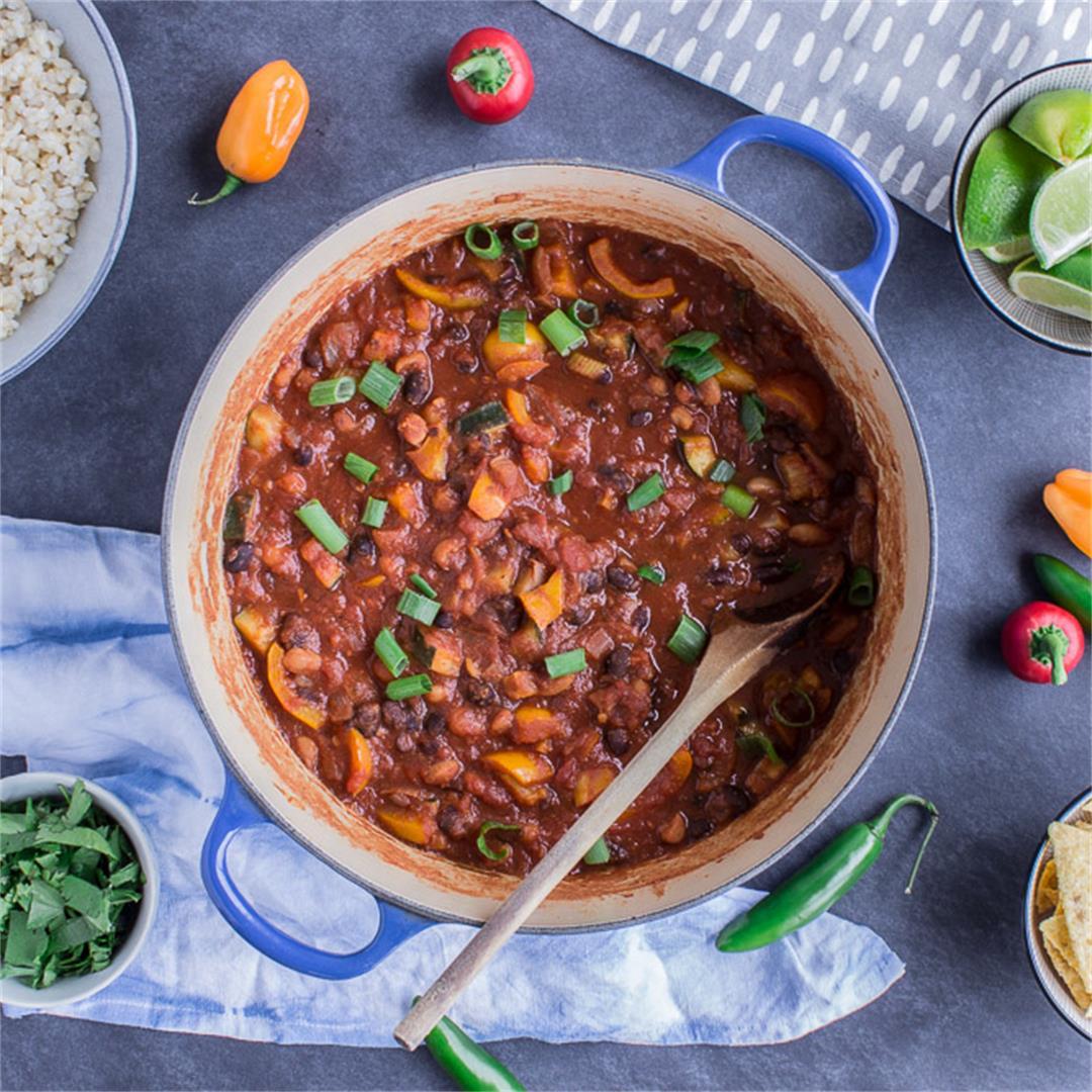 Warming Bean Chili (vegan + gf)