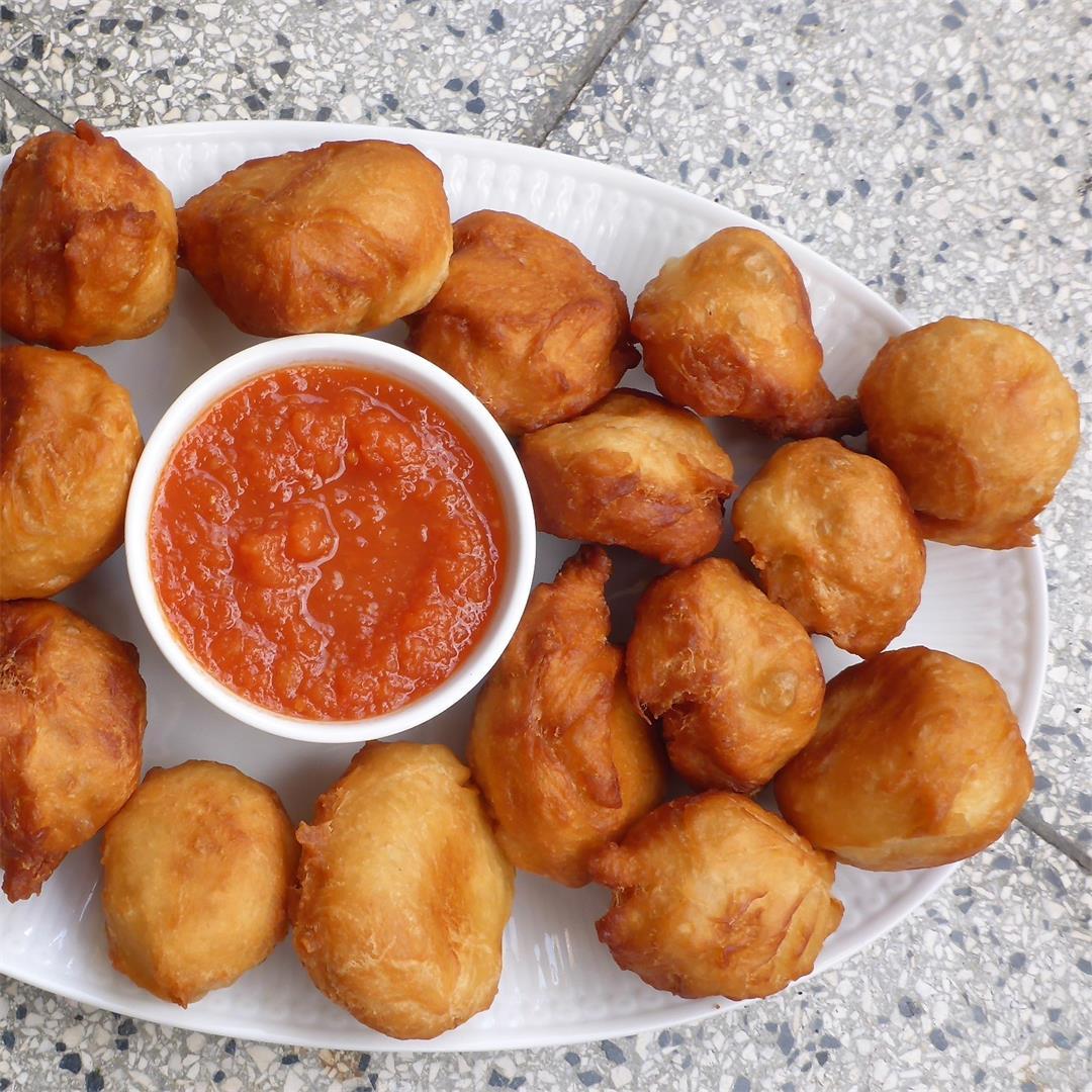 Namibian Fat cakes (fried dough balls, egg - & dairy free)