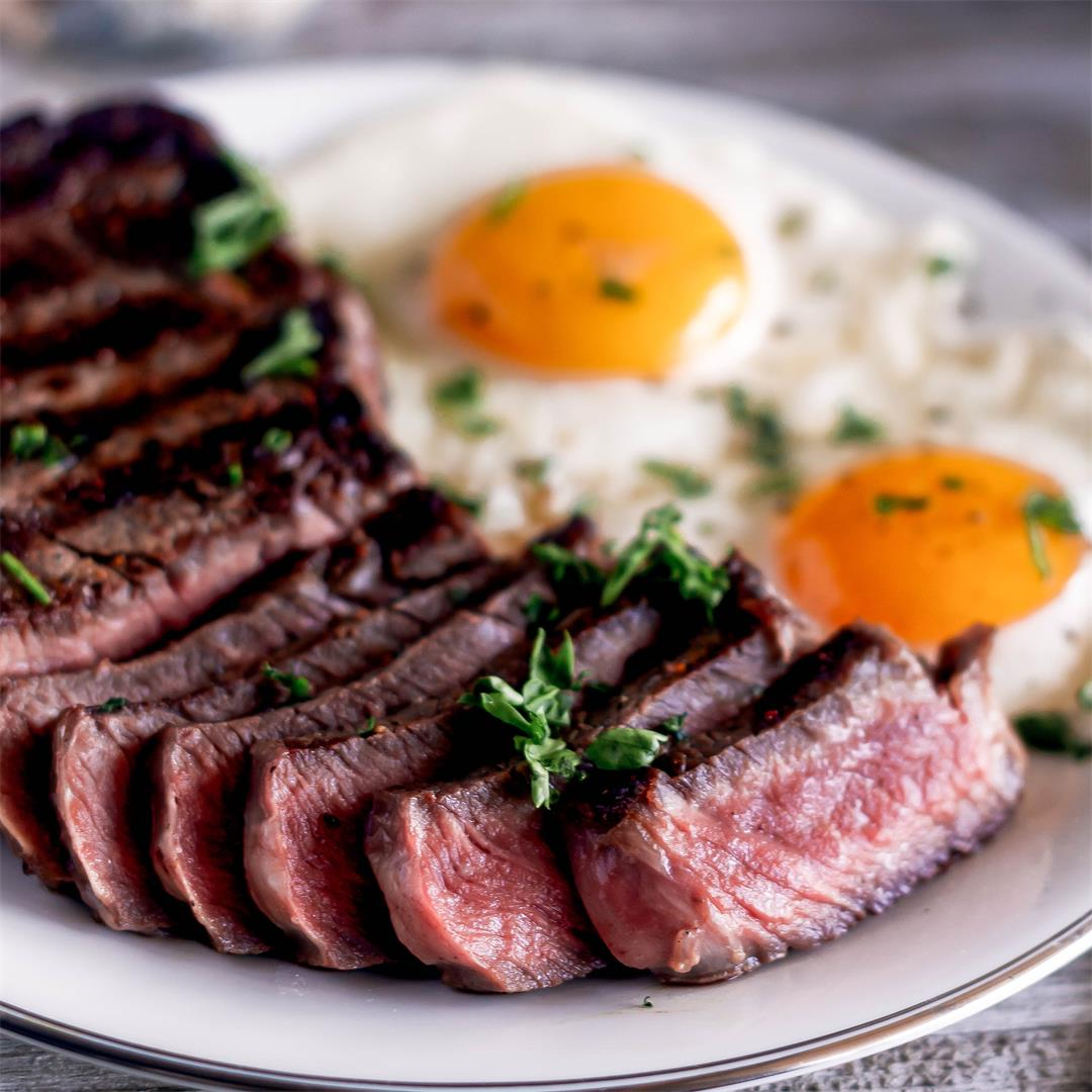 Diner Style Steak and Eggs