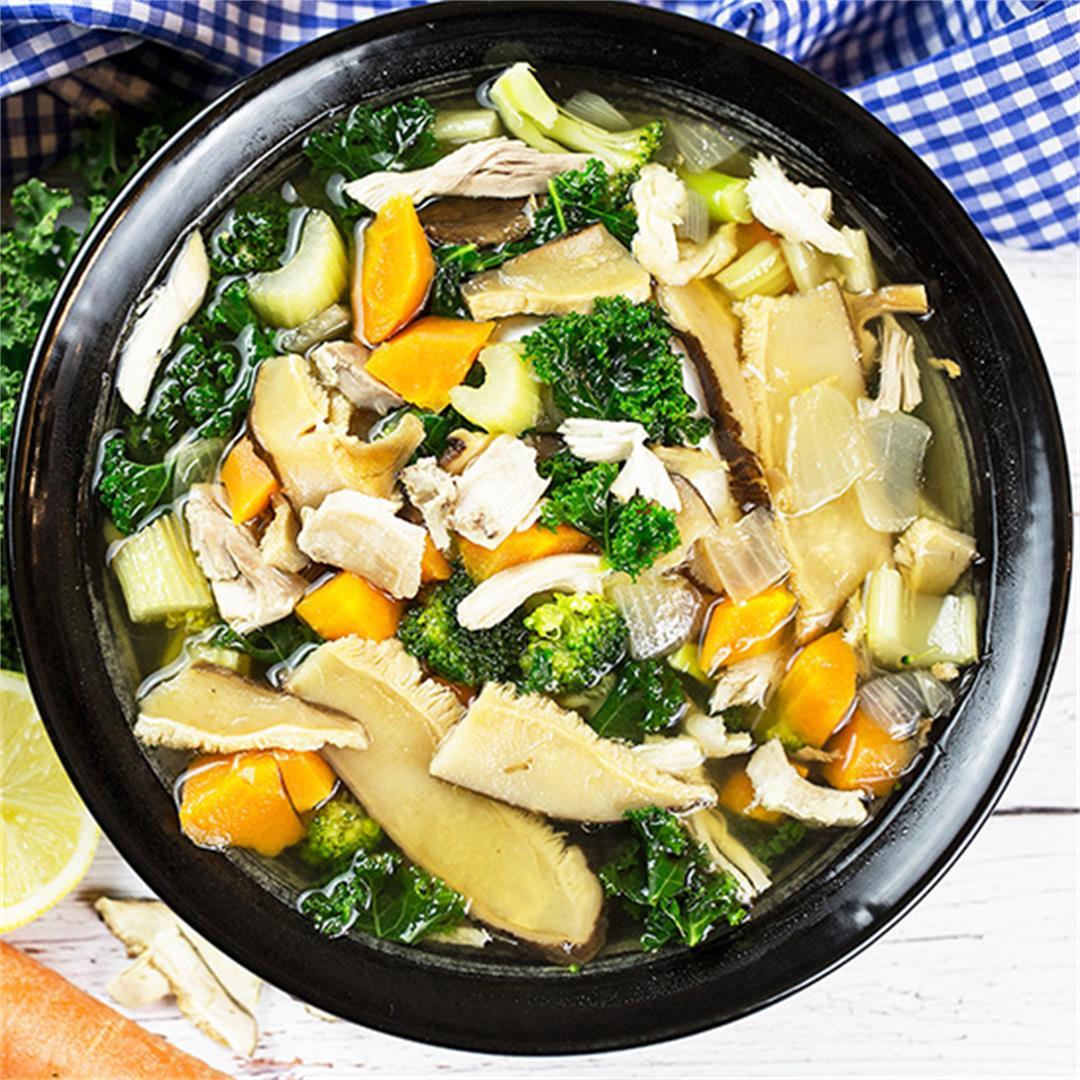 Healthy Chicken Vegetable Miso Soup