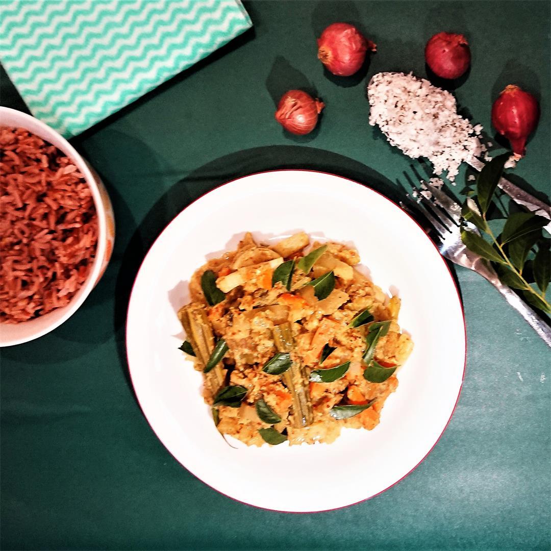 Avial – Boiled vegetables in coconut gravy