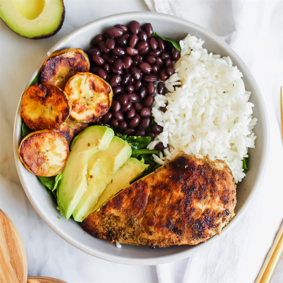 Cuban Chicken and Black Bean Rice Bowls