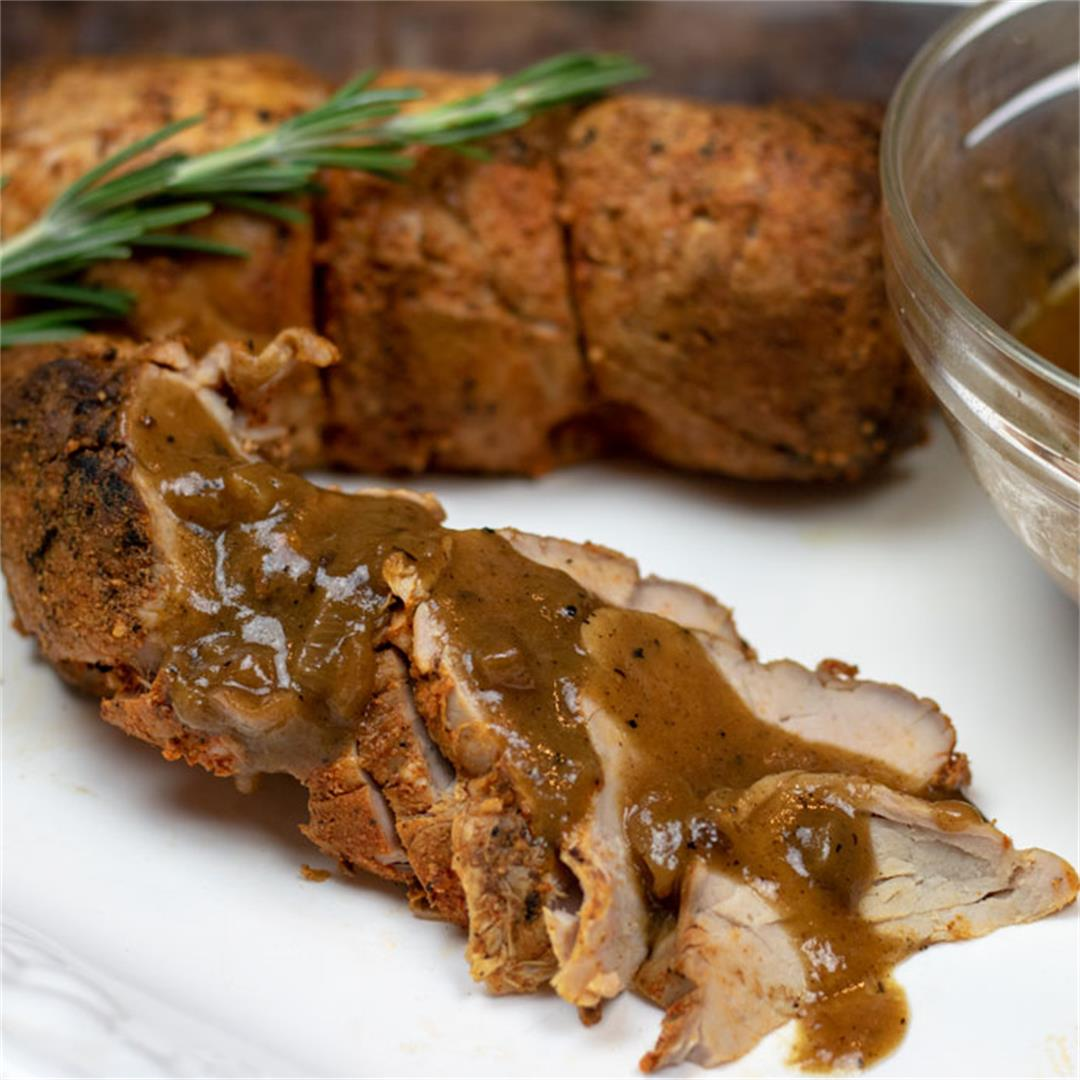 Roasted Pork Tenderloin with Meyer Lemon Sauce