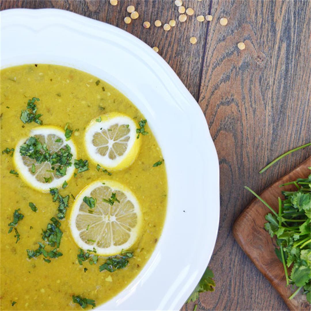 Light Lemon Lentil Soup with Indian Flavours