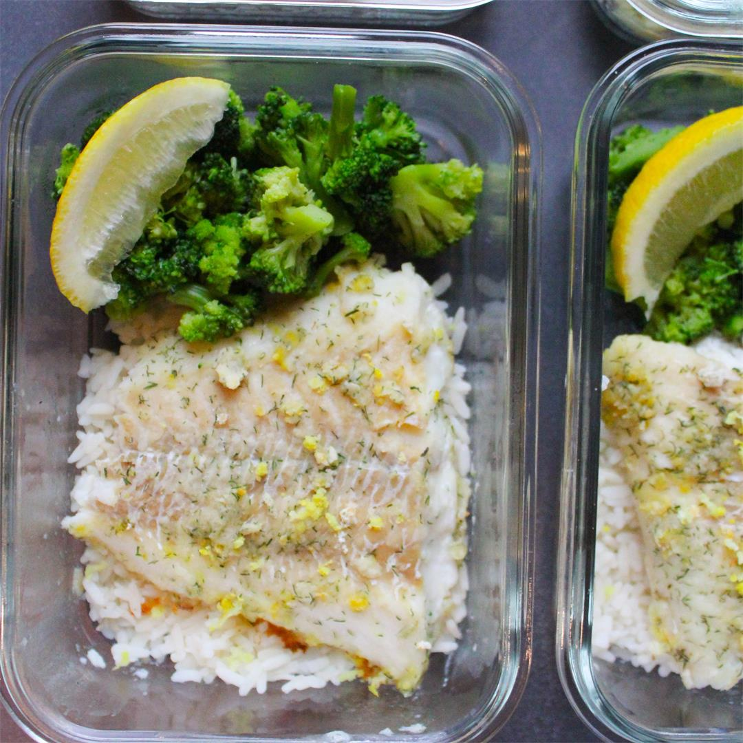 Lemon and Dill Baked Cod