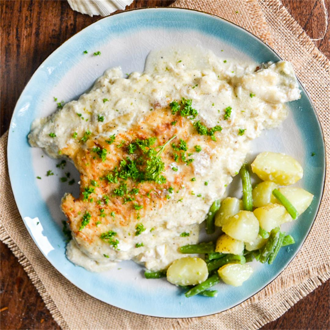 Sole Fish in creamy Milk Sauce
