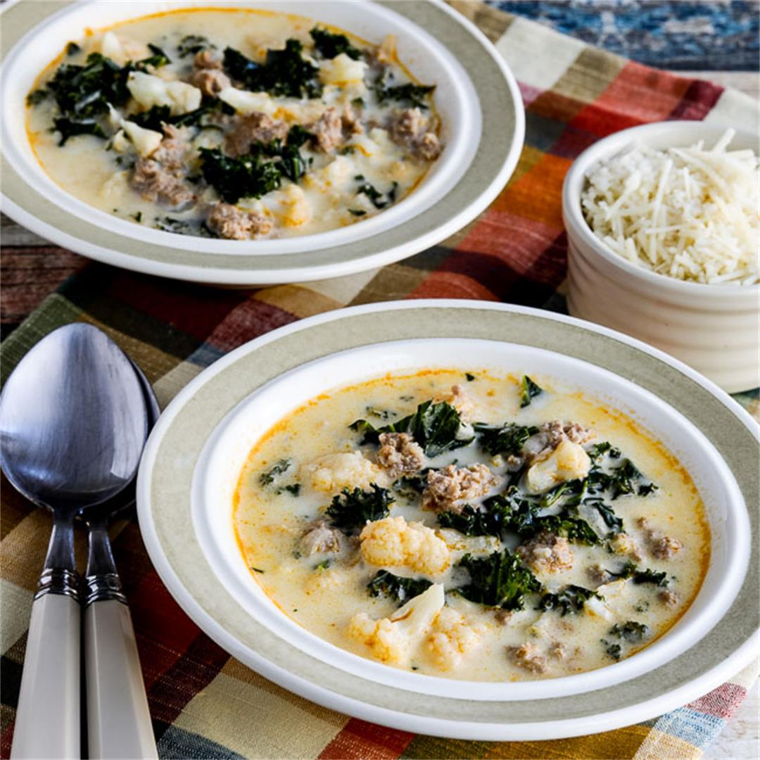 Instant Pot Low-Carb Zuppa Toscana Soup