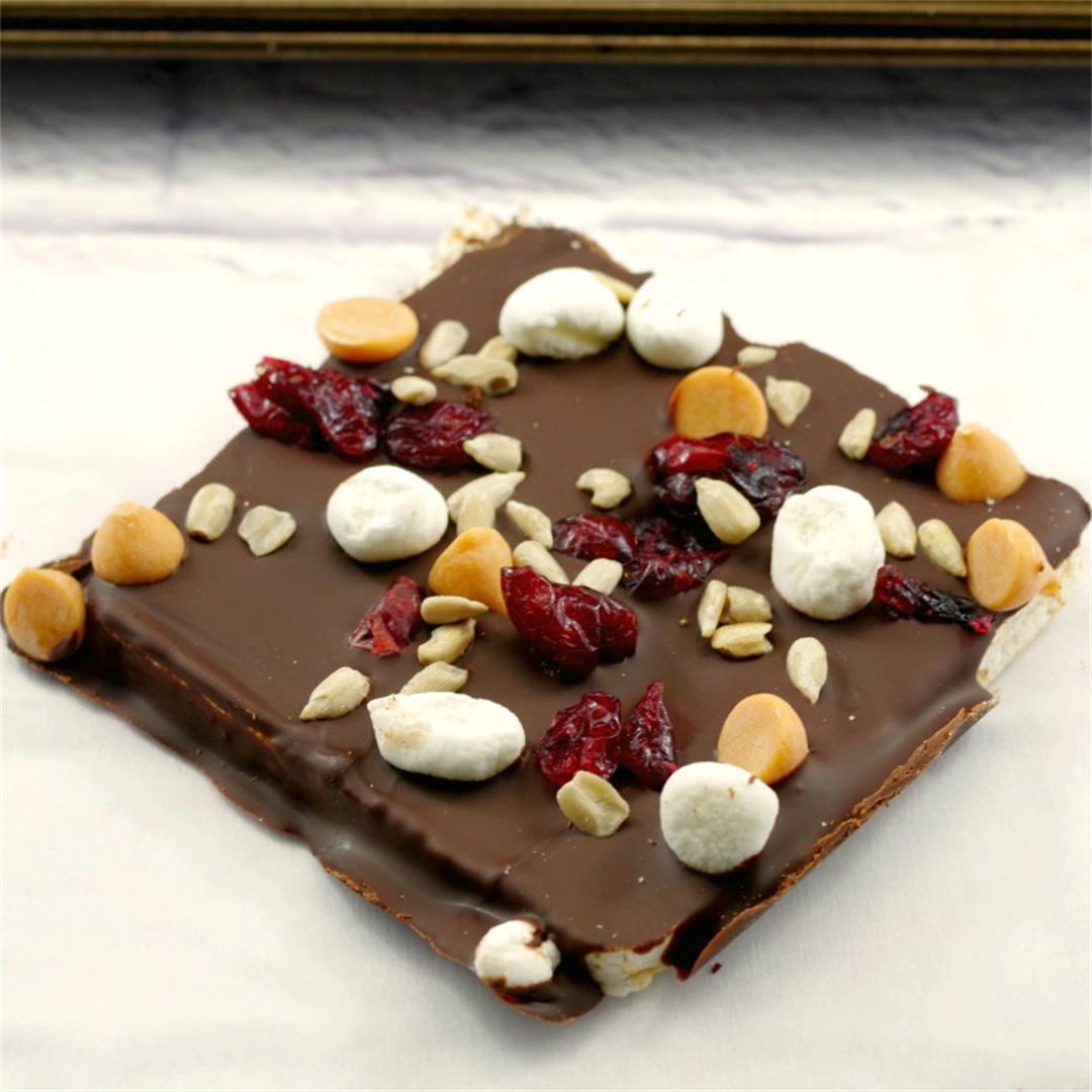 No Bake Healthy Chocolate Rocky Road Bars