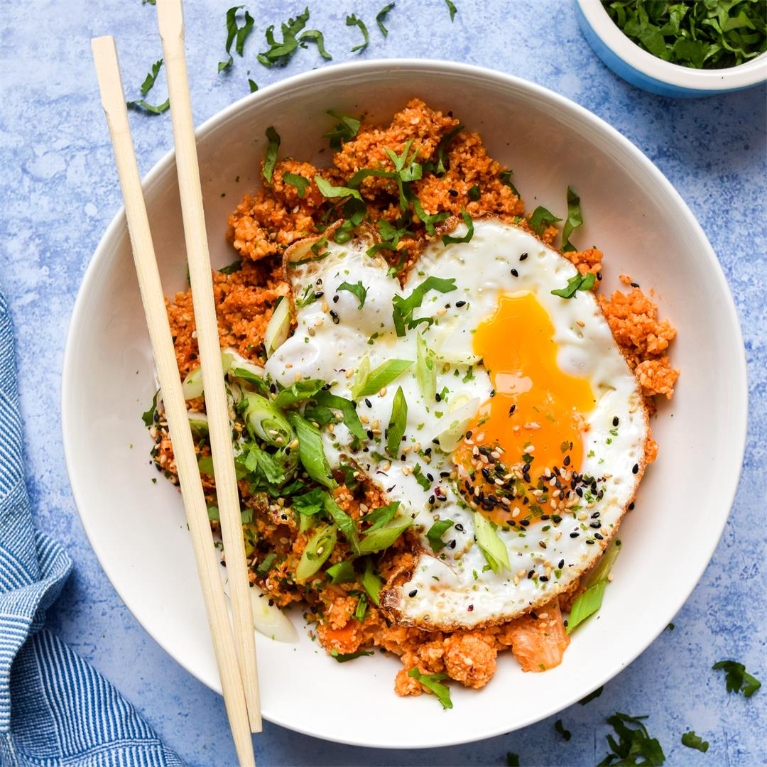 Kimchee Fried Cauliflower Rice
