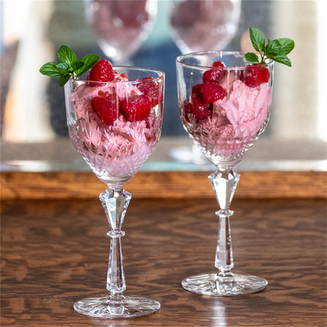 Triple Raspberry Sundaes