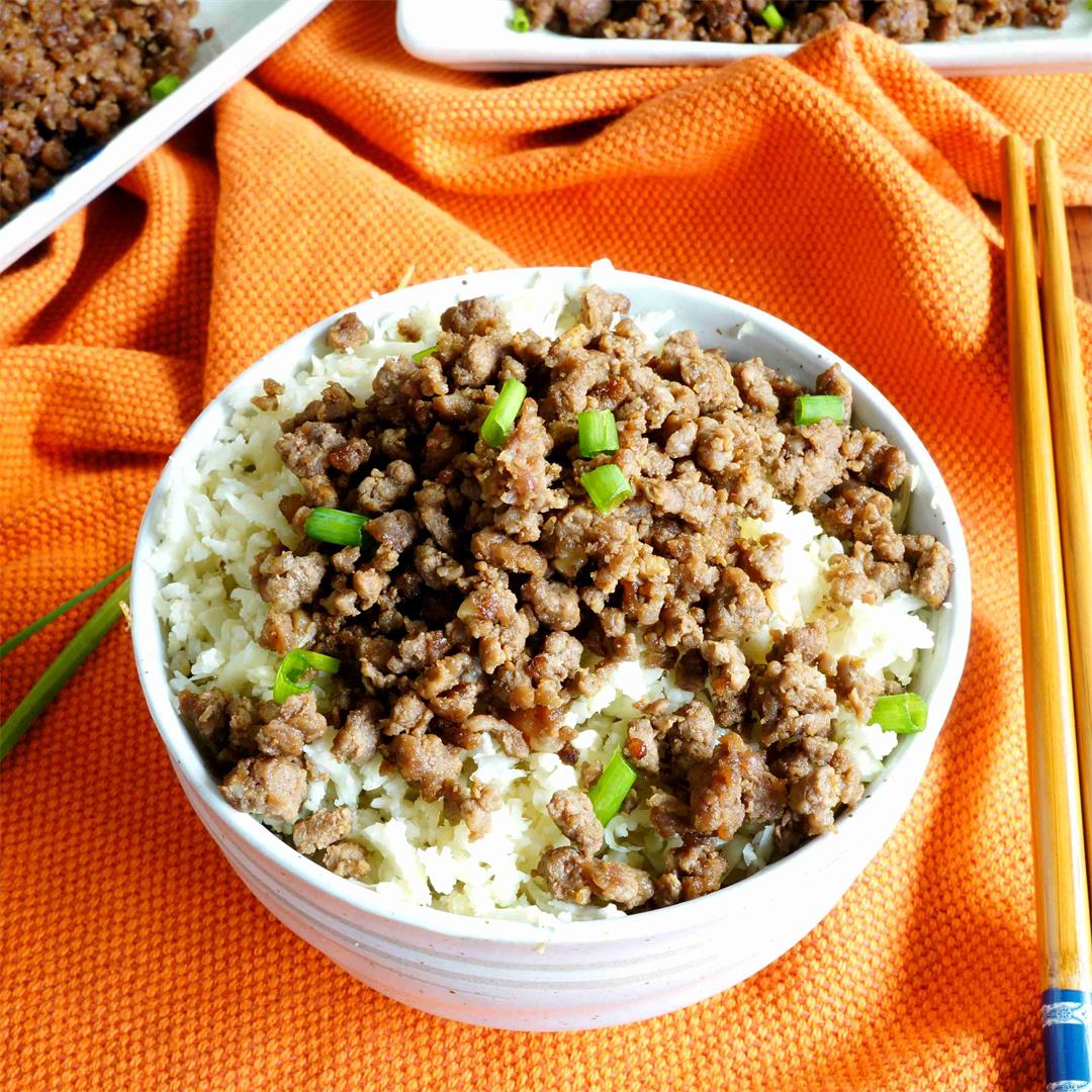 Paleo Korean Ground Beef
