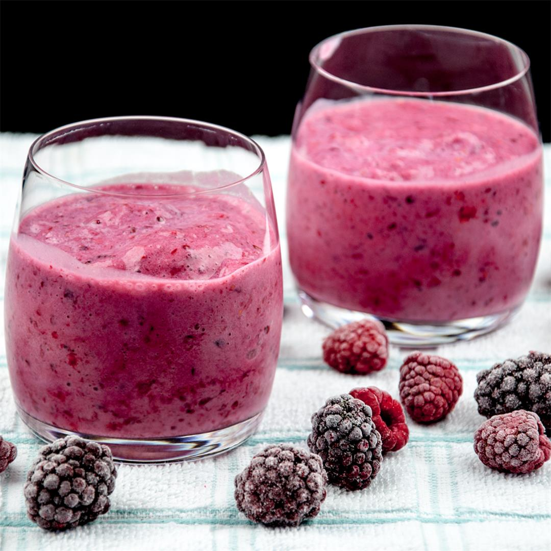 Blackberry and Raspberry Smoothie
