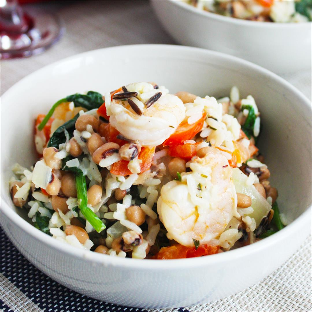 Shrimp and Rice Bowls with Lemon and Tarragon