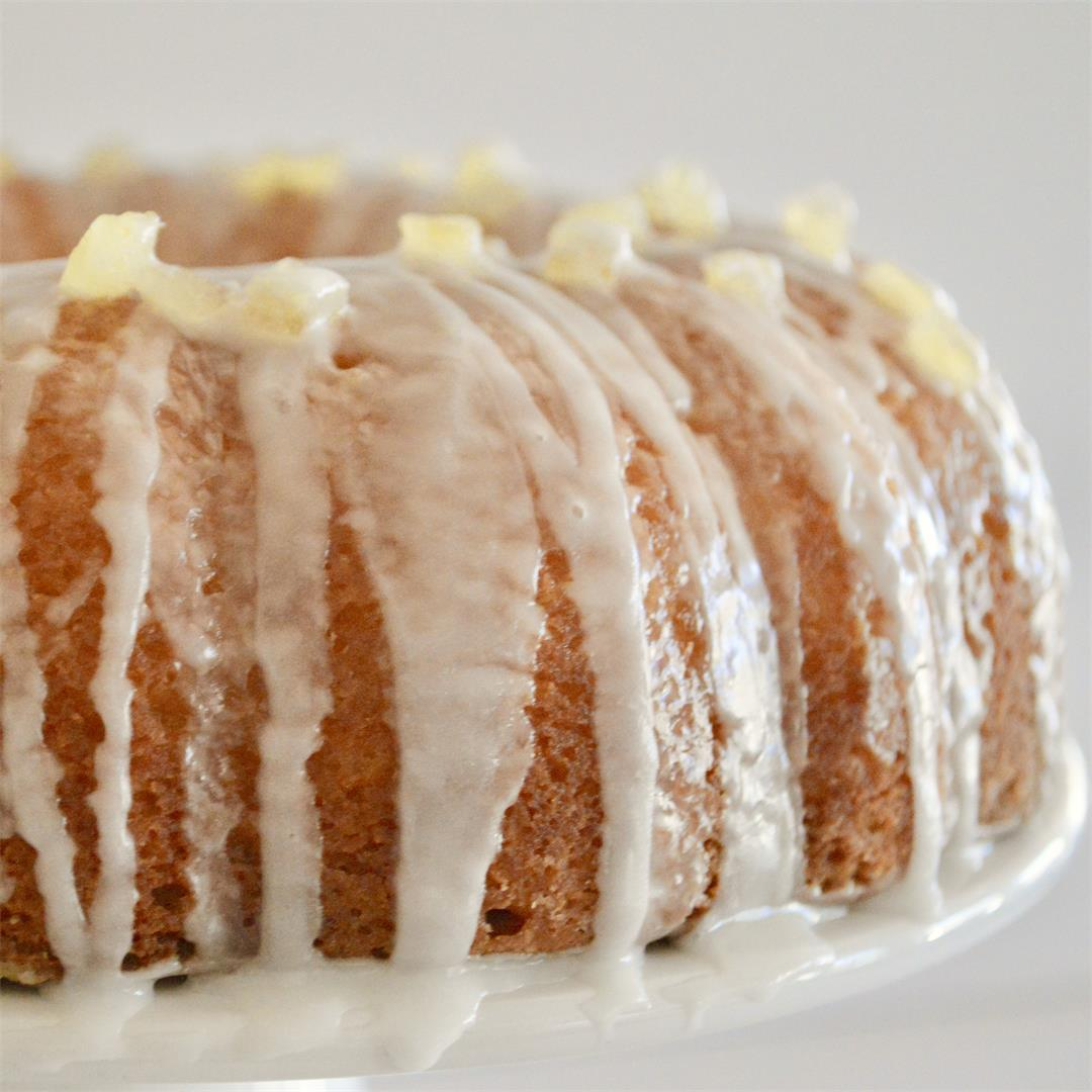 Lemon Ricotta Bundt Cake with Glaze