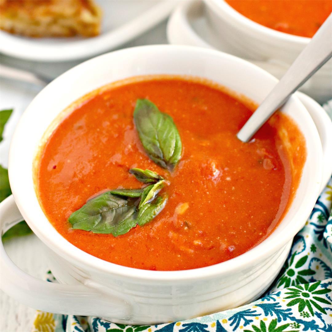 Copycat Panera Tomato Basil Soup