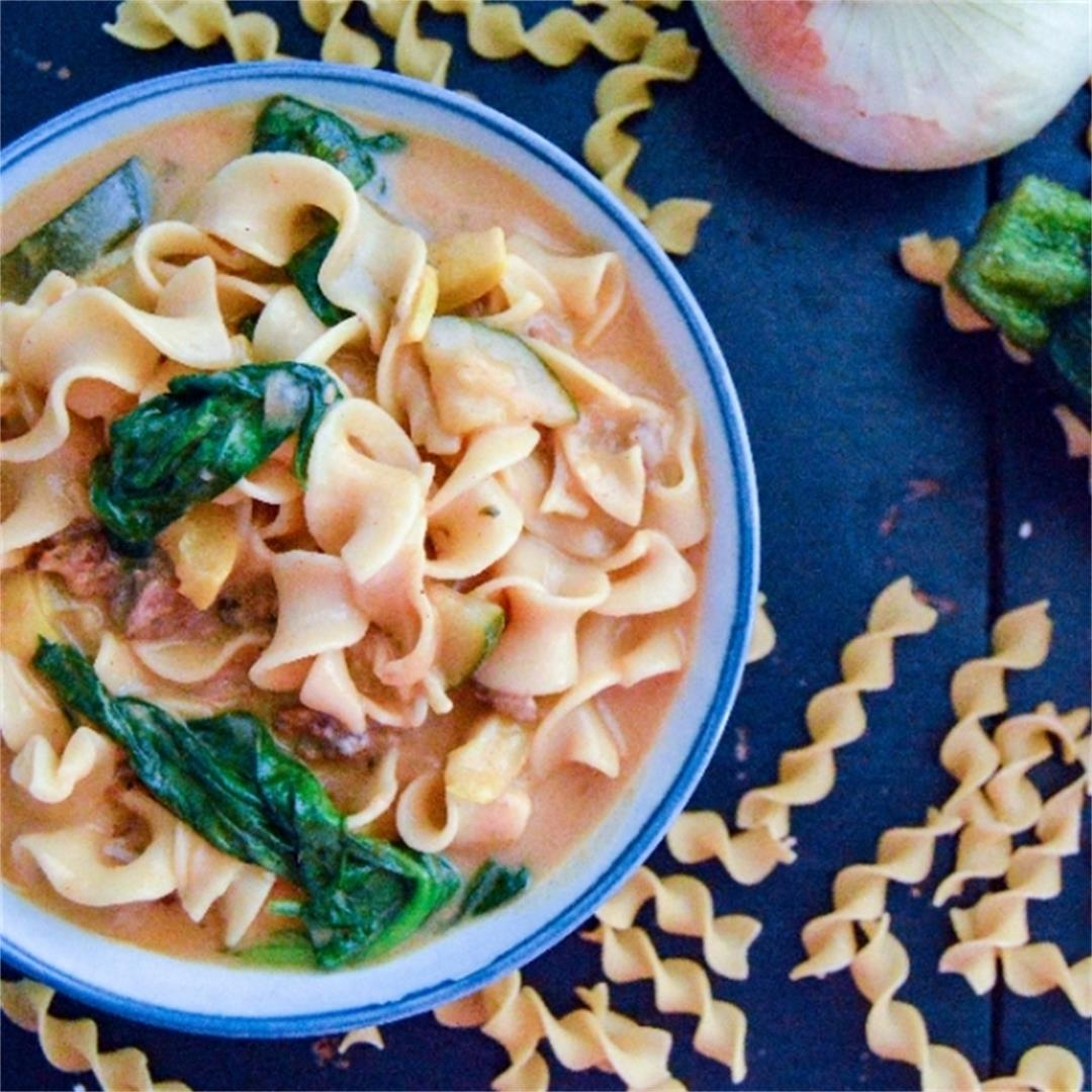 Cheesy and nutritious one pot wonder 30 minutes meal.