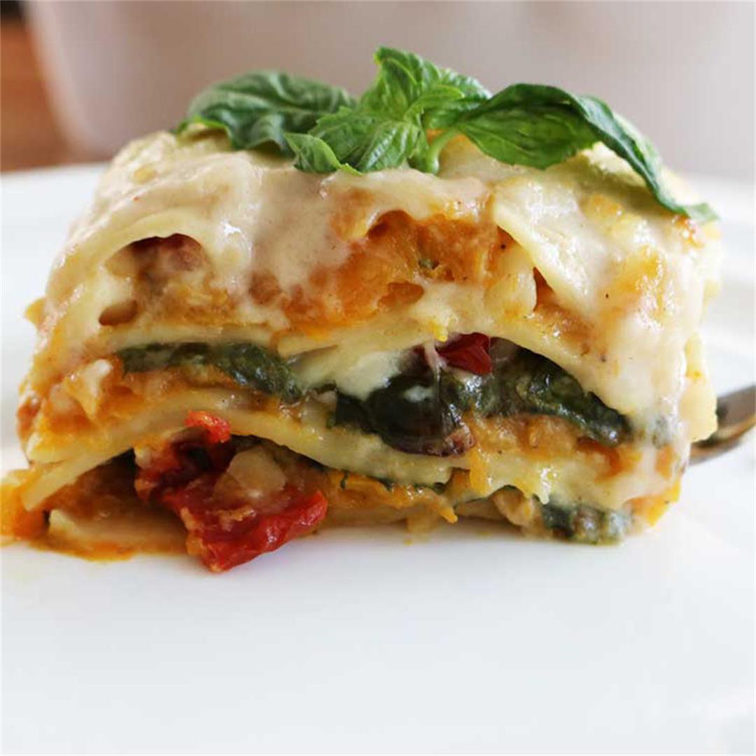 Butternut Squash Vegetarian Lasagna