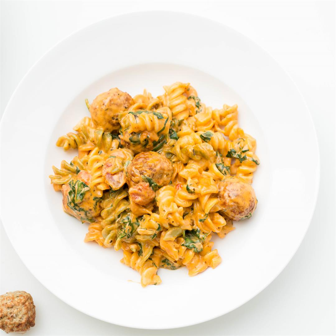 Easy One-Pan Meatball Pasta Recipe
