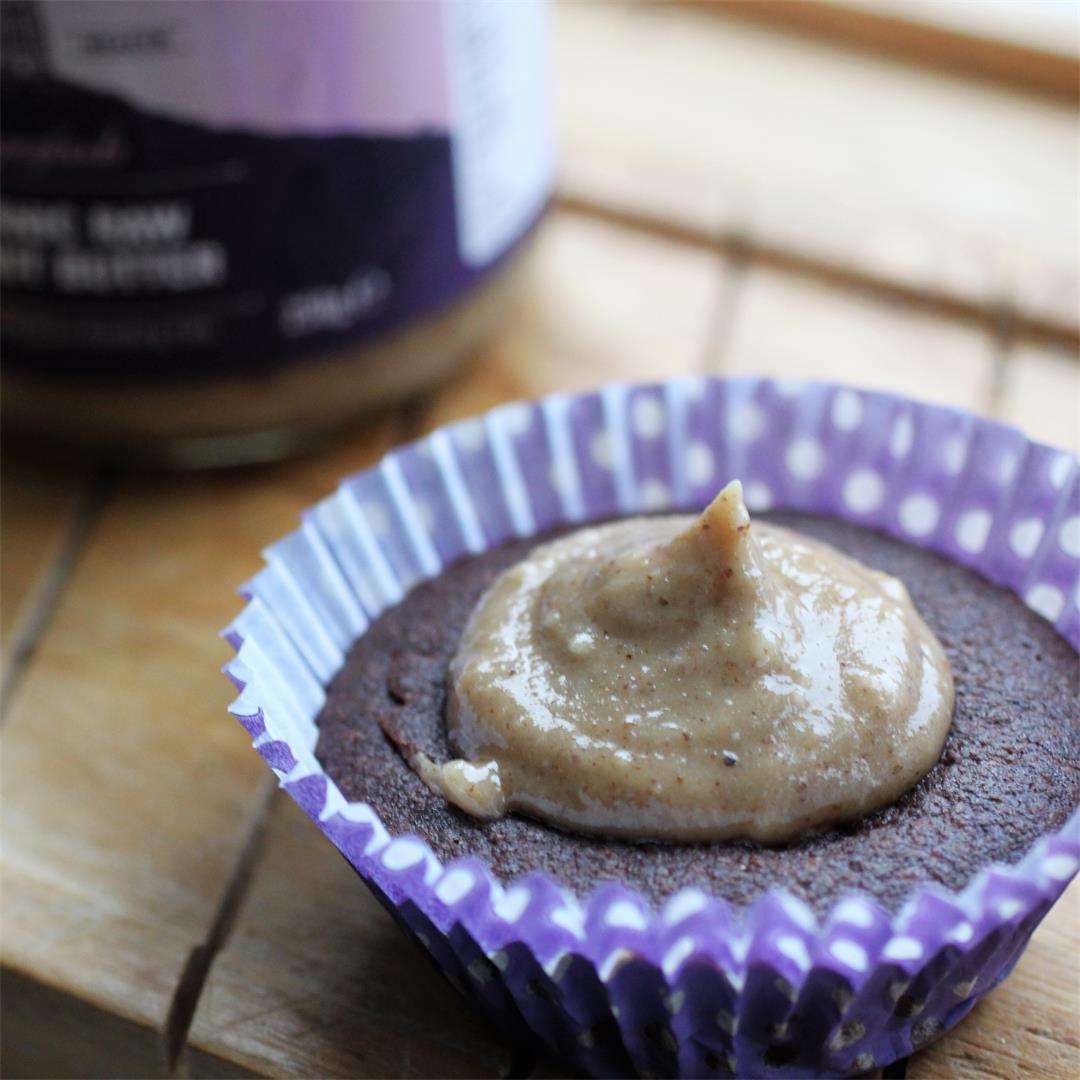 Chocolate Coffee Cupcakes w/ Walnut Frosting (Vegan, GF)