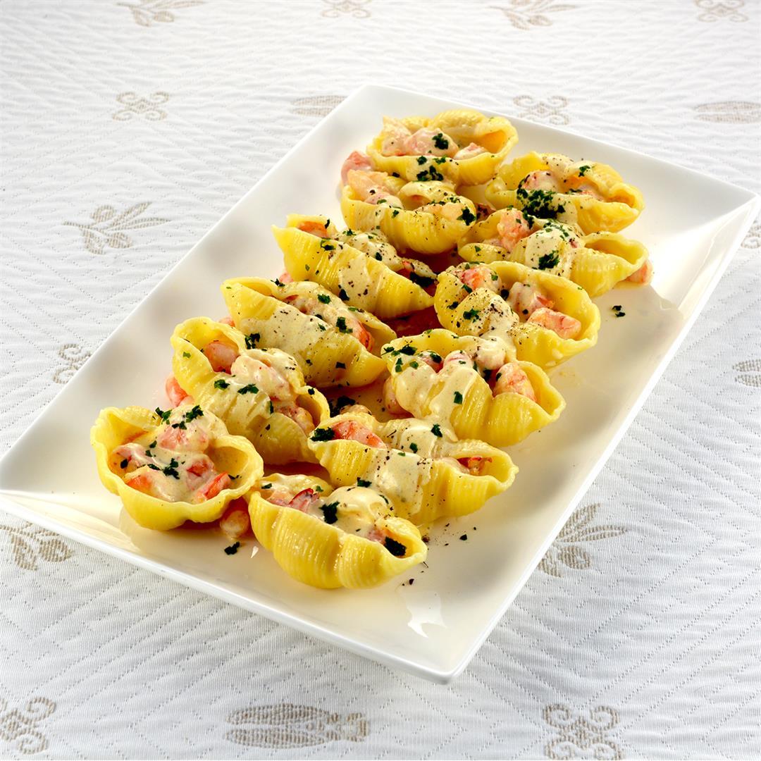 Shrimp Newberg Stuffed Shells