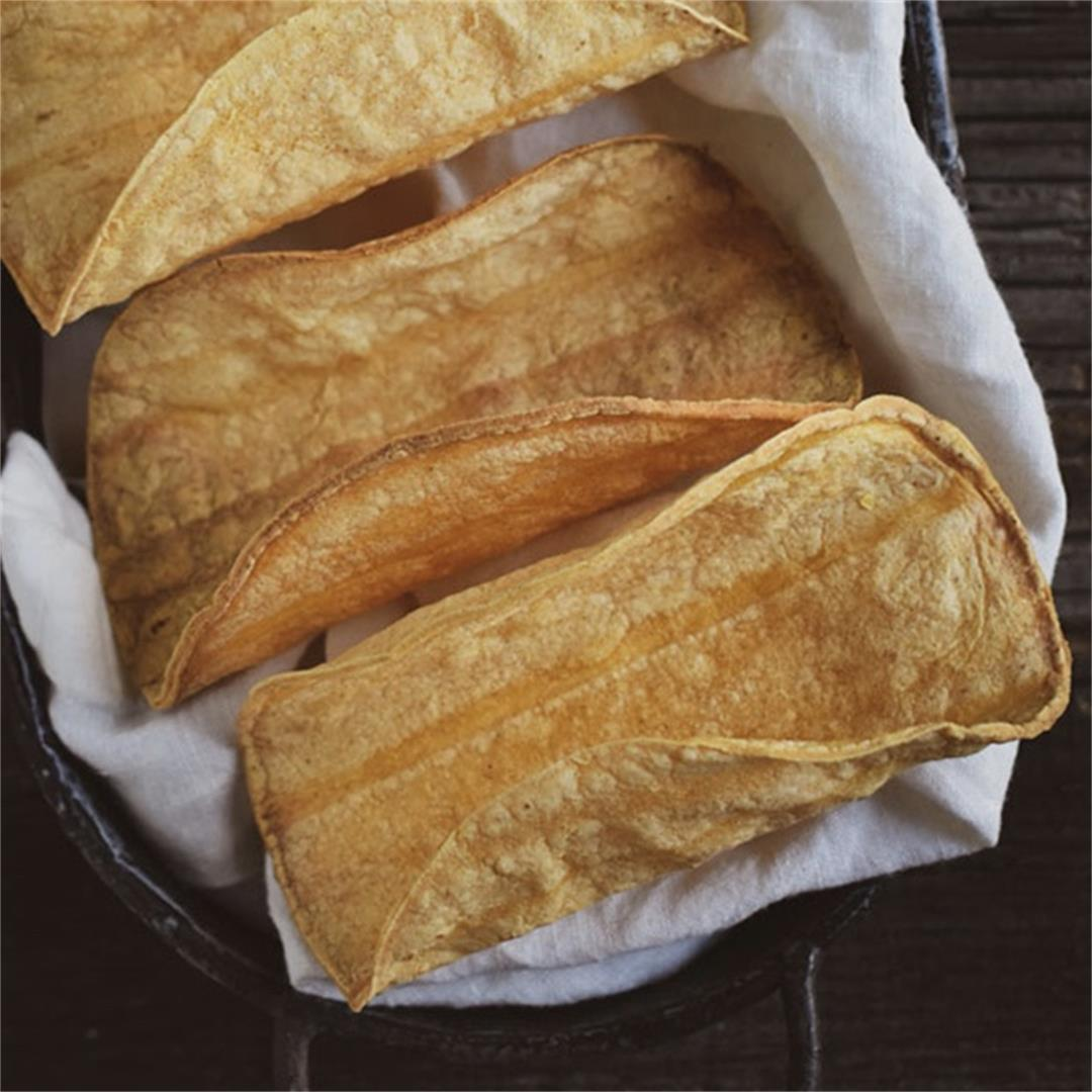 Crunchy Baked Taco Shells