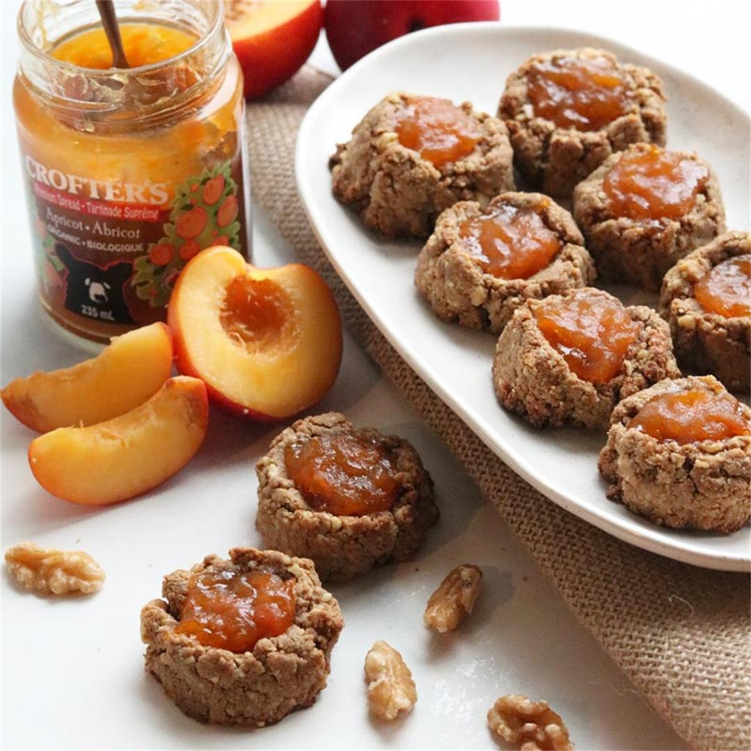 Grain-free Chai & Apricot Thumbprint Cookies (low sugar)