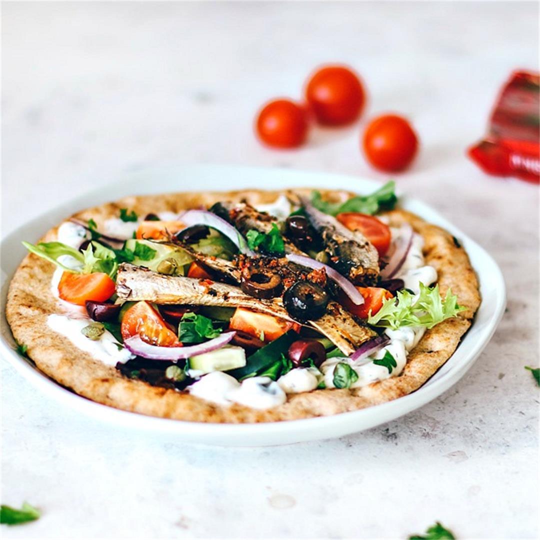Greek Pita With Sardines