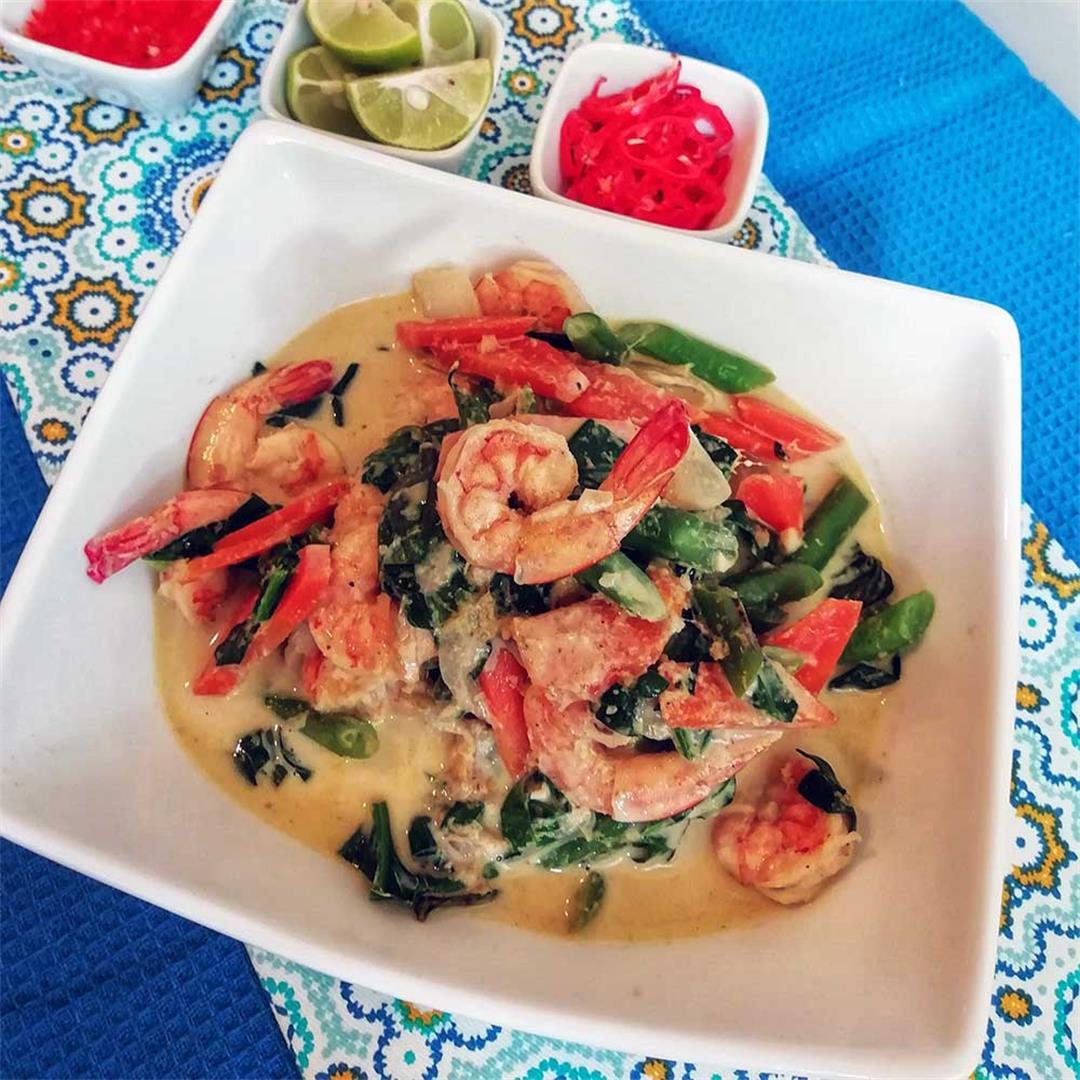 Easy Shrimp Vegetable Thai Green Curry