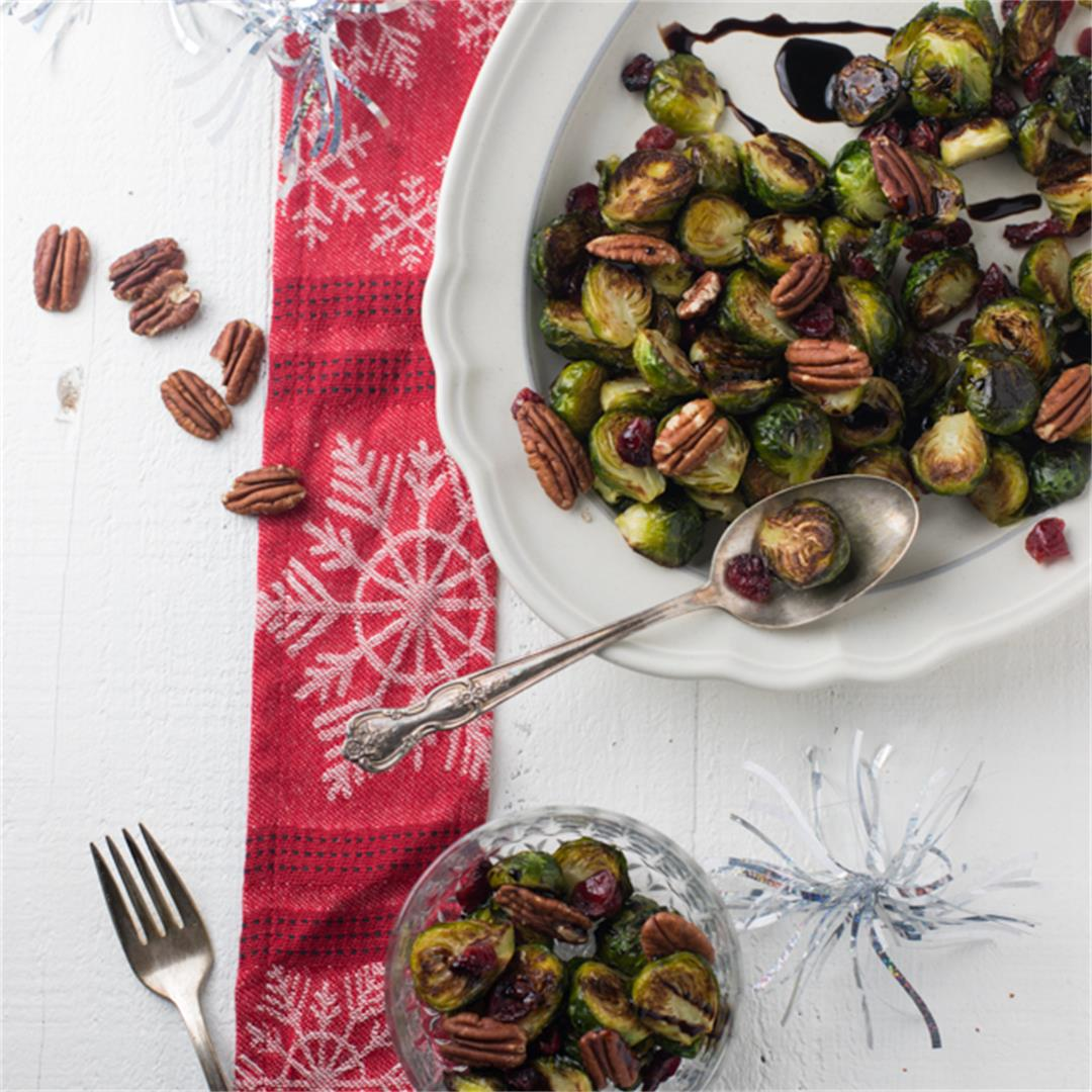 Candied Balsamic-Glazed Brussels Sprouts