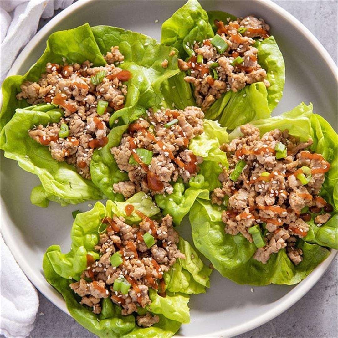 Sesame Pork Lettuce Wraps