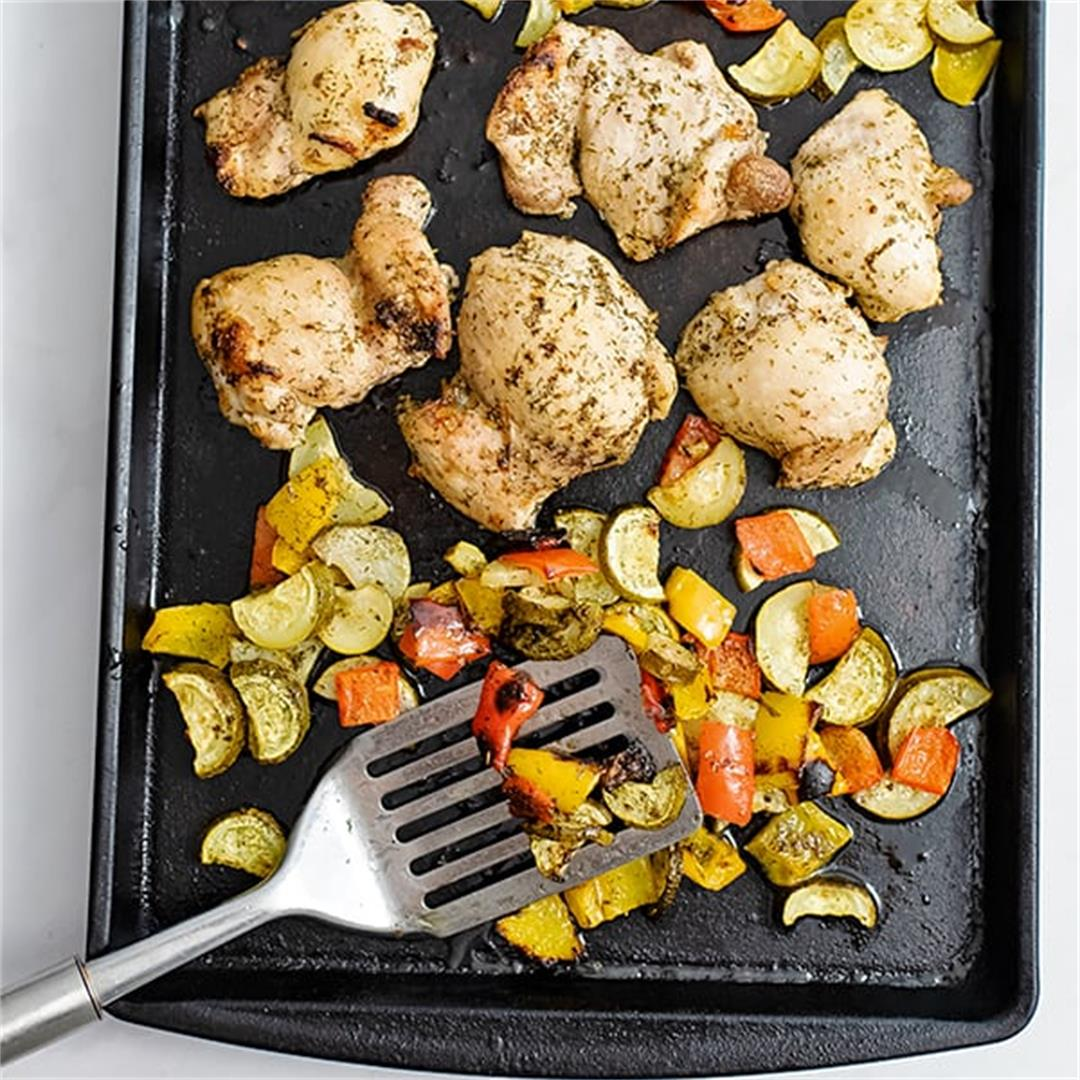Greek Chicken Marinade | Sheet Pan Dinner