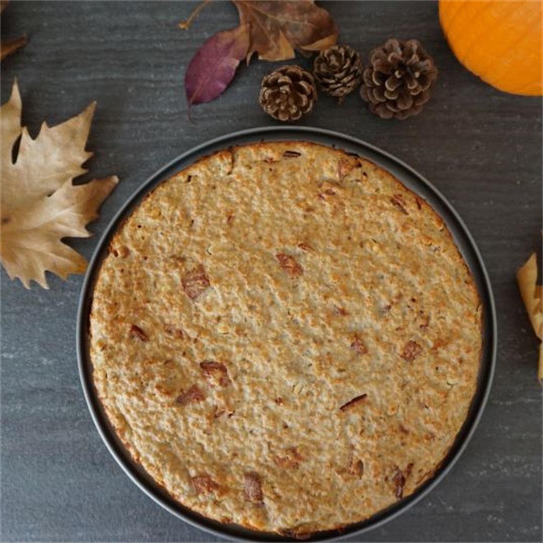 Gluten-free breakfast bake with oatmeal and Feta Cheese