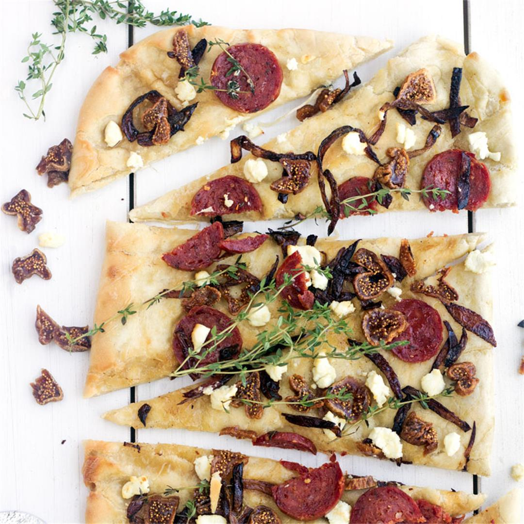 Chorizo, Goat Cheese & Honey Flatbread