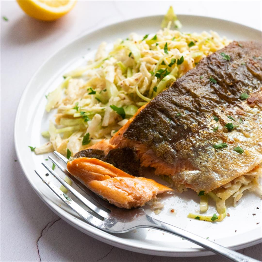Vegetable Remoulade With Pan-Fried Trout