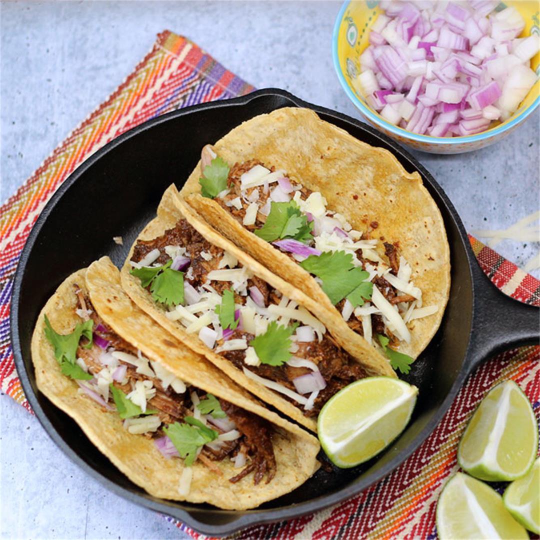 Crock-Pot Mole Pork Tacos