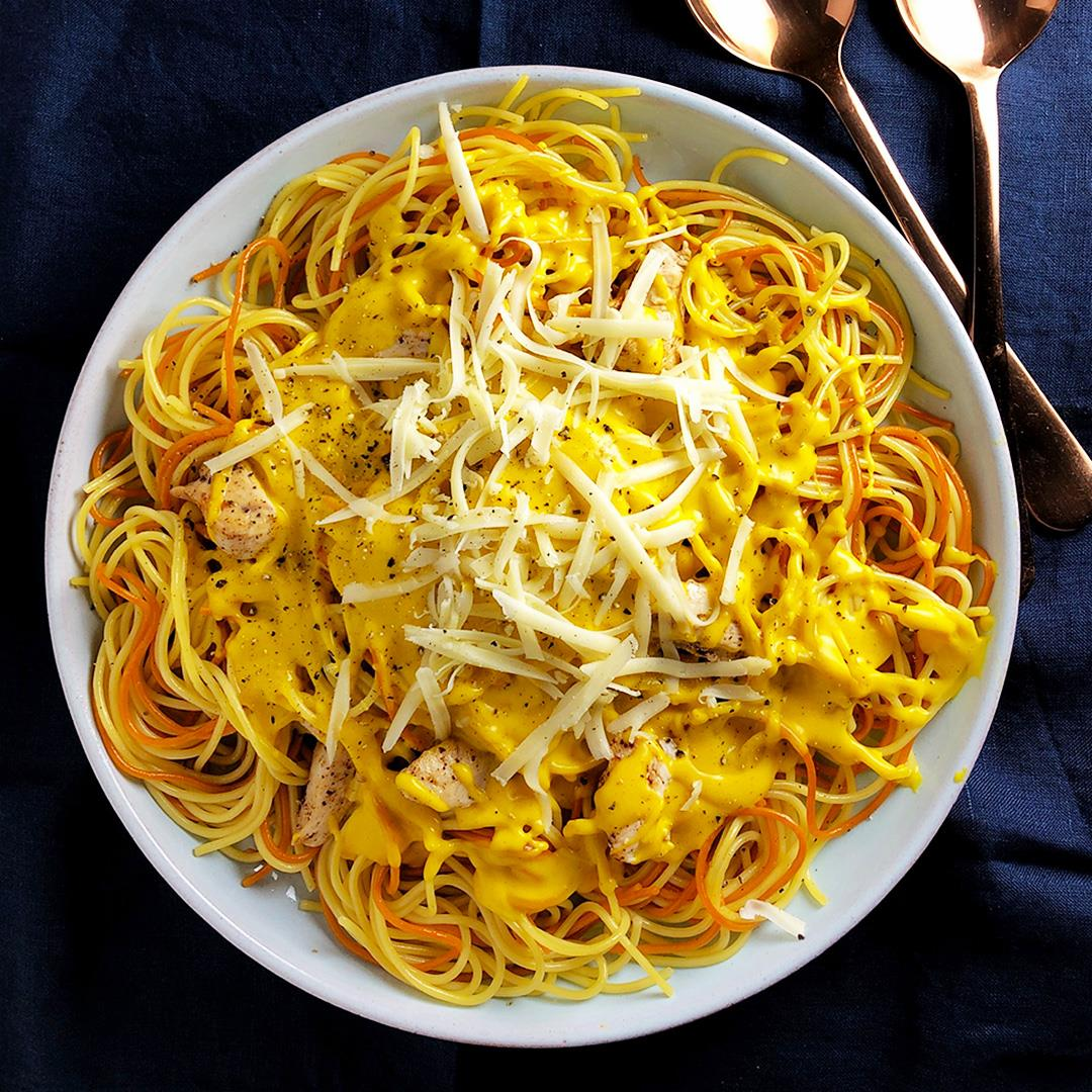 Kabocha Squash and Cheddar Cheese Pasta Sauce