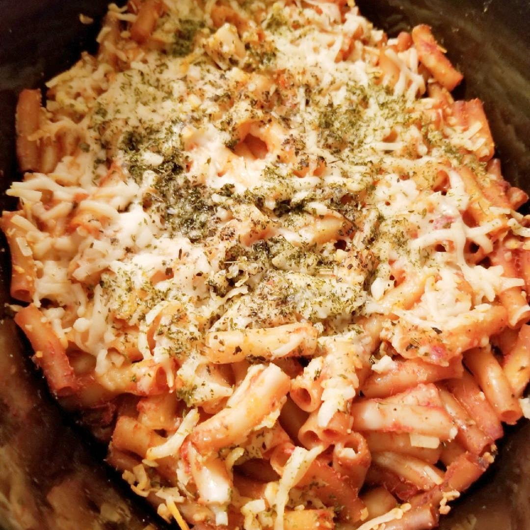 Slow-Cooker Vegan Baked Ziti
