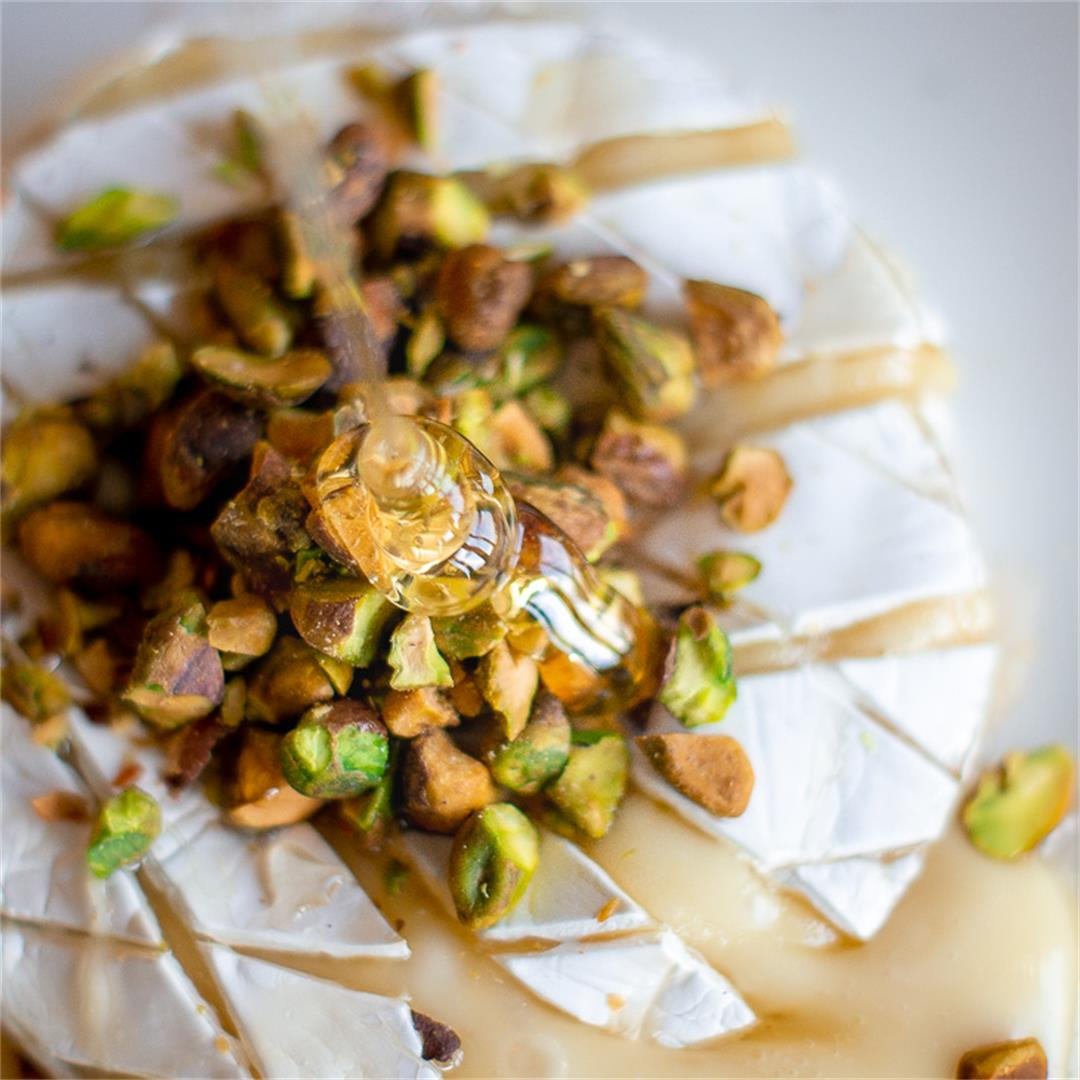 Baked Brie with Honey & Pistachios