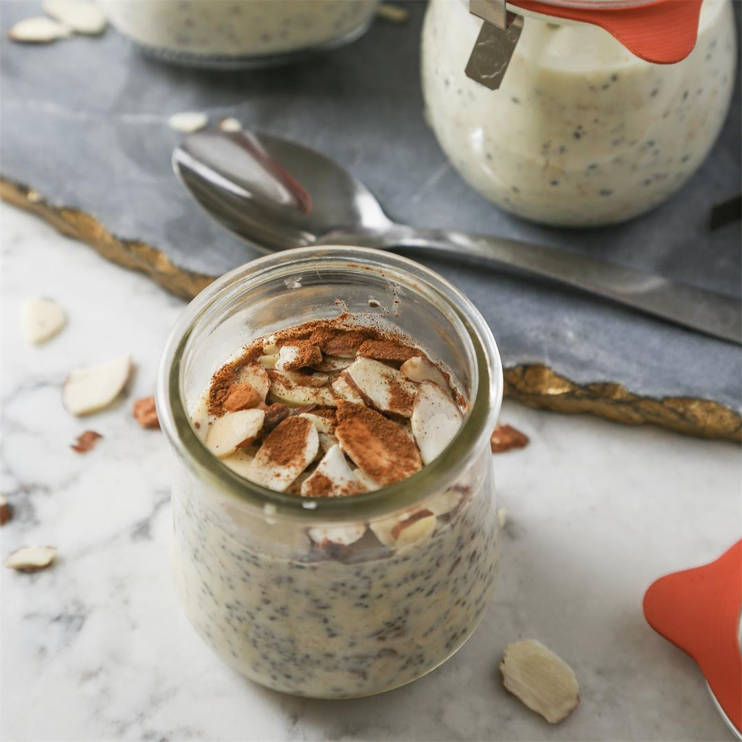 Leftover Eggnog Overnight Oats