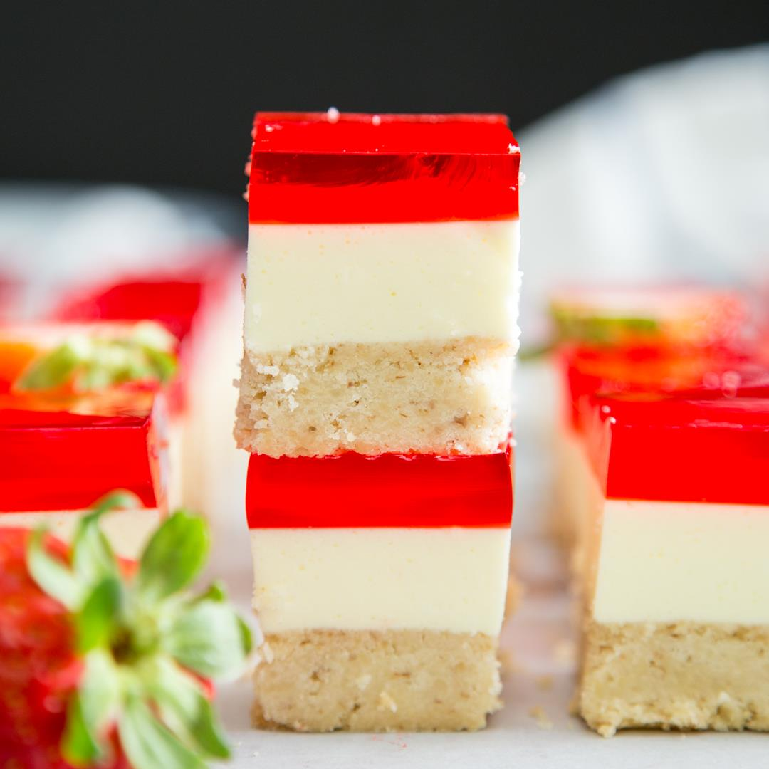 Strawberry Jello Dessert Bars