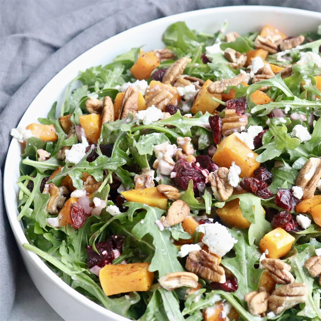 Winter Salad with Roasted Squash and Beets