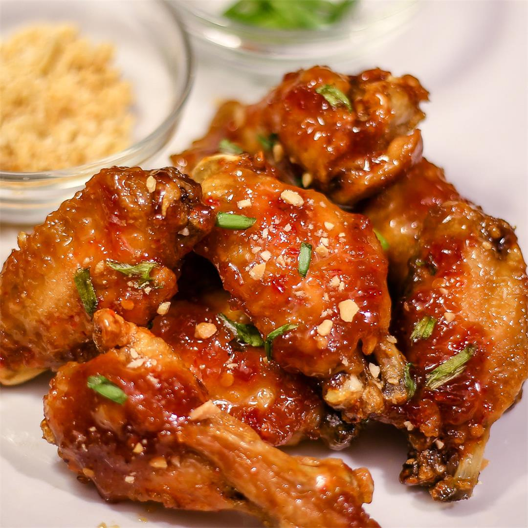 Asian Sticky Wings ~ Ninja Foodi Recipe